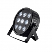 LED PAR flat reflector 9x 10 W 4-in-1 RGBW, DMX