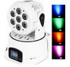 LED moving head 7x10W QCL, 4-in-1 RGBW, DMX, RJ45, white case