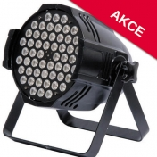 LED PAR reflektor 54x 3 W RGB 3-in-1, DMX
