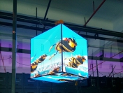 LED Cube Screen 384 x 384 x 384 mm, P6, krychle