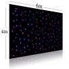 LED curtain závěs 6x 4 m, 288x RGB 3-in-1 LED, DMX