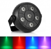 Mini LED PAR flat reflector 6x 1,5 W 3-in-1 RGB, Auto,Sound