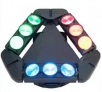 LED efekt 9 eyes Spider Kaos 9x 12 W CREE RGBW 4-in-1, DMX512