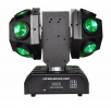 Dvojitá otočná LED hlava Football Beam 12x10 W 4in1 LED, RG laser 150 mW, DMX