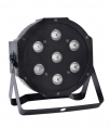 LED PAR flat reflektor 7x 6 W 4-in-1, RGB+WW, DMX