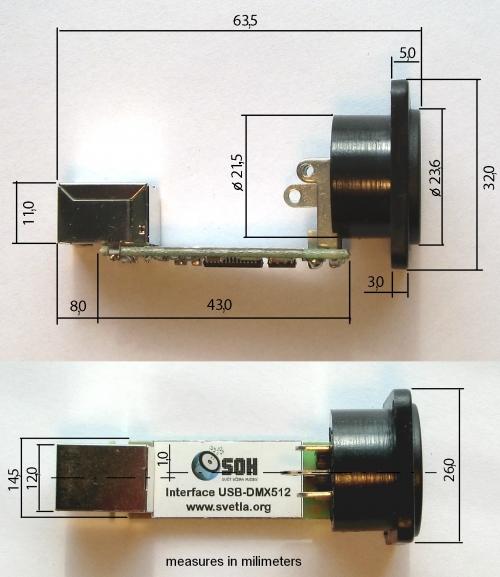 Module USB - DMX 512 | USB→DMX | SOH cz