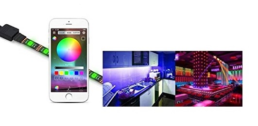 Mini RGB LED stripes Bluetooth controller, mobile phone